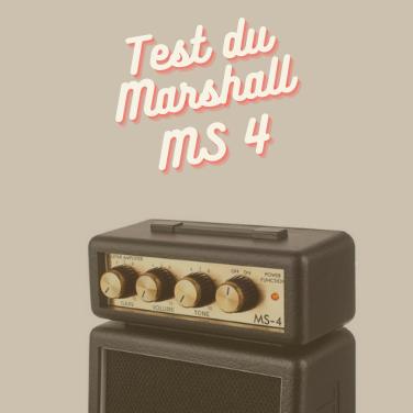 Test du mini ampli Marshall Ms4